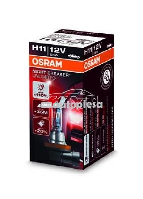 Bec Osram H11 Night Breaker Unlimited (+110 lumina) 12V 55W