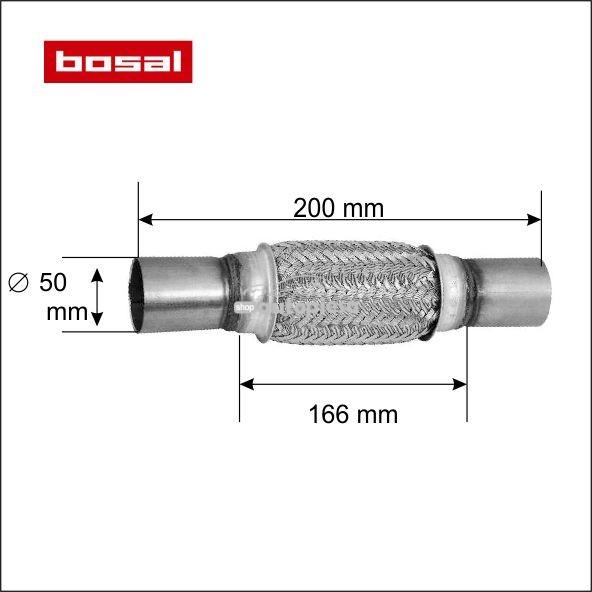 Racord flexibil toba esapament 50 x 200 mm BOSAL