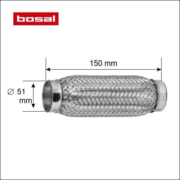 Racord flexibil toba esapament 51 x 150 mm BOSAL
