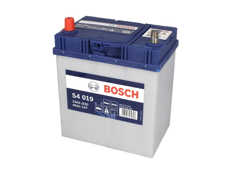 Acumulator baterie auto BOSCH S4 40 Ah 330A cu borne inguste si inverse
