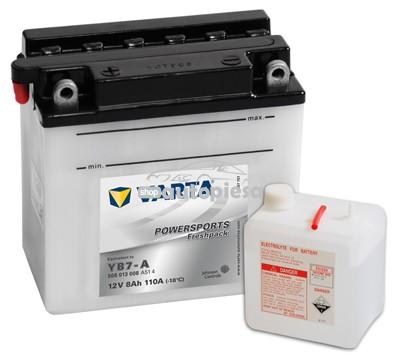 Acumulator baterie motociclete VARTA Powersports Freshpack 8 Ah 110A cu borne inverse