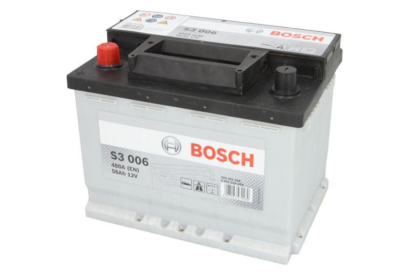 Acumulator baterie auto BOSCH S3 56 Ah 480A cu borne inverse