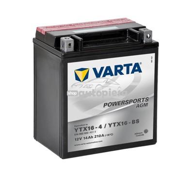 Acumulator baterie motociclete VARTA Powersports AGM 14 Ah 210A cu borne inverse