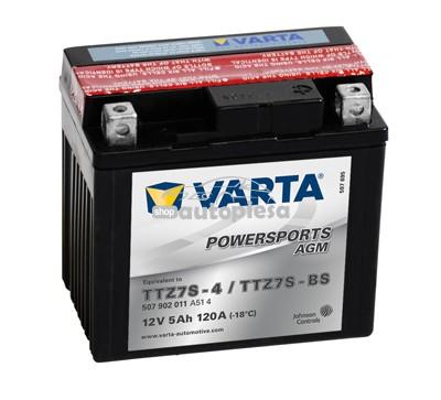 Acumulator baterie motociclete VARTA Powersports AGM 7 Ah 120A