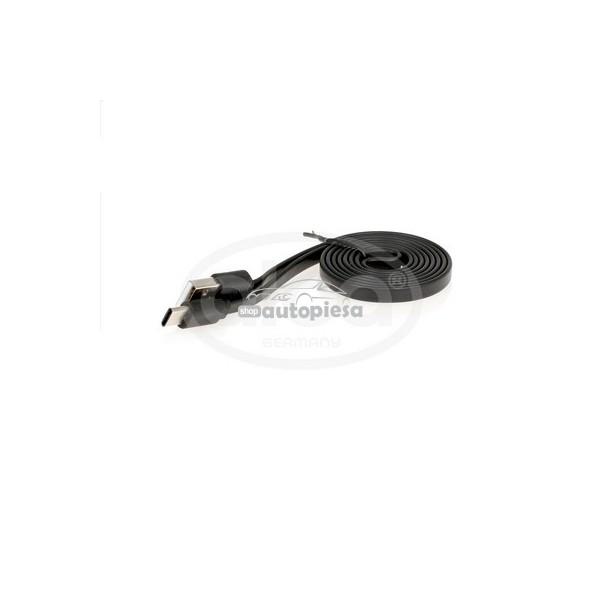 Cablu incarcator USB Type-C negru 1m ALCA