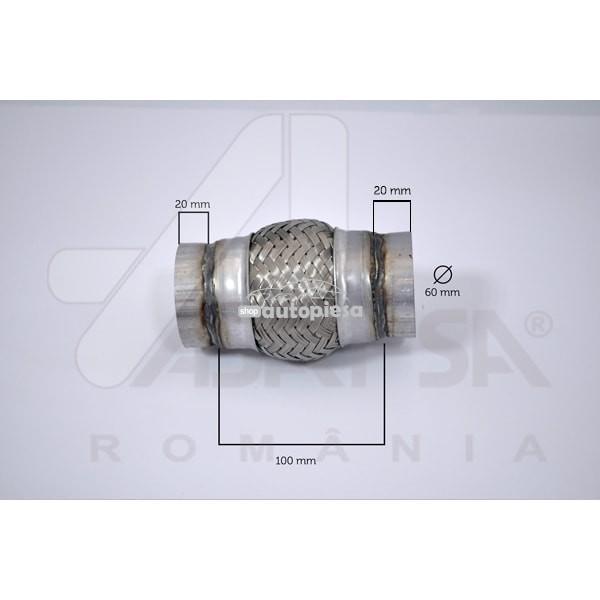 Racord flexibil toba esapament 60 x 100 mm ASAM