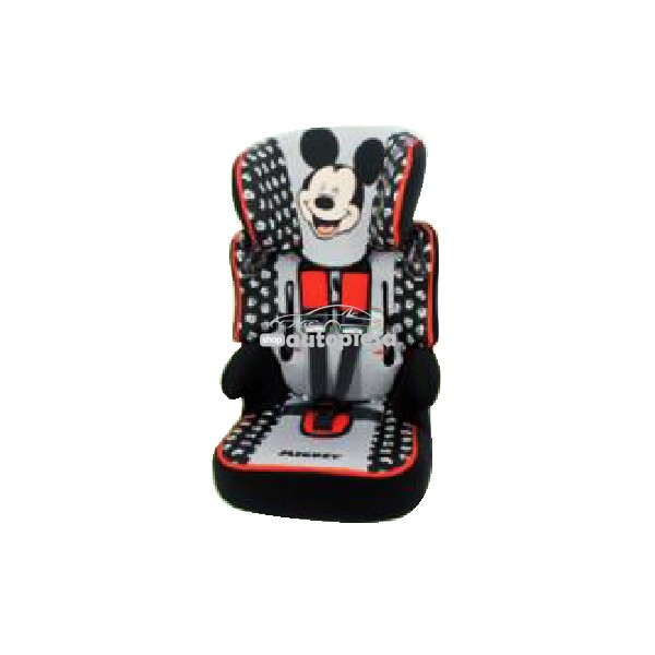 Scaun auto pentru copii grupa 1-2-3 (1-12 ani / 9-36 kg) Mickey Mouse NANIA