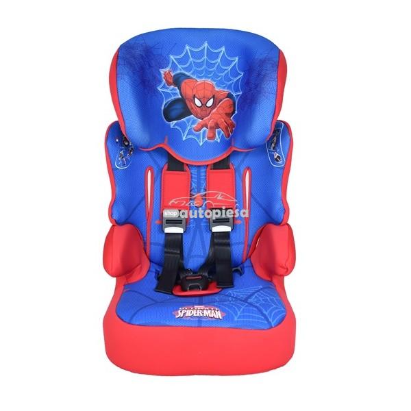 Scaun auto pentru copii grupa 1-2-3 (1-12 ani / 9-36 kg) Spider Man NANIA