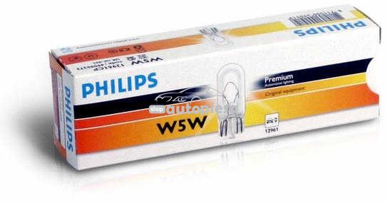 Bec Philips W5W 12V 5W