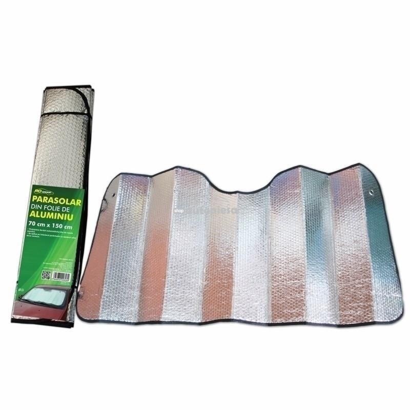 Parasolar parbriz folie aluminiu 2 fete, 70 x 150 cm RO GROUP